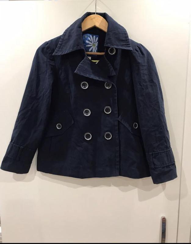 Стильное пальто next,тренч,синее пальто