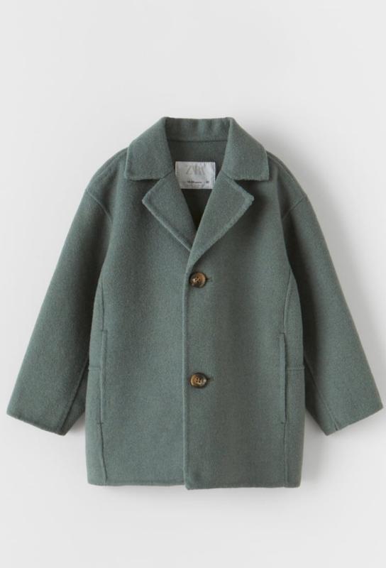 Шерстяное пальто zara 4-5 лет