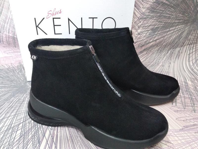 Замшевые зимние ботинки kento на платформе новинка