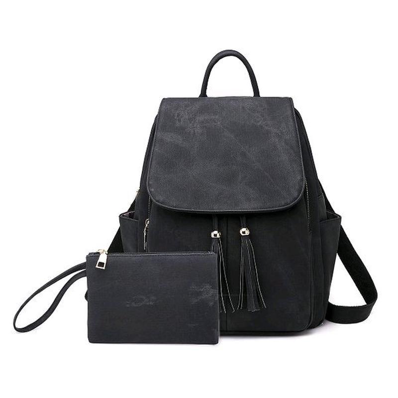 Женская сумка - рюкзак HiFlash черная Синий - Фото 4