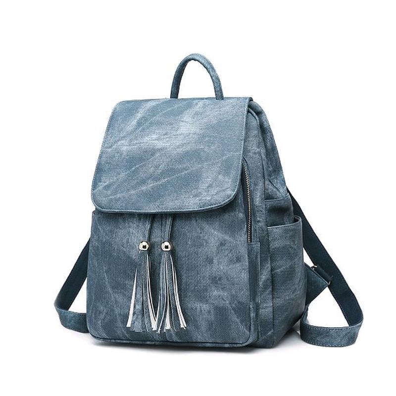 Женская сумка - рюкзак HiFlash черная Синий