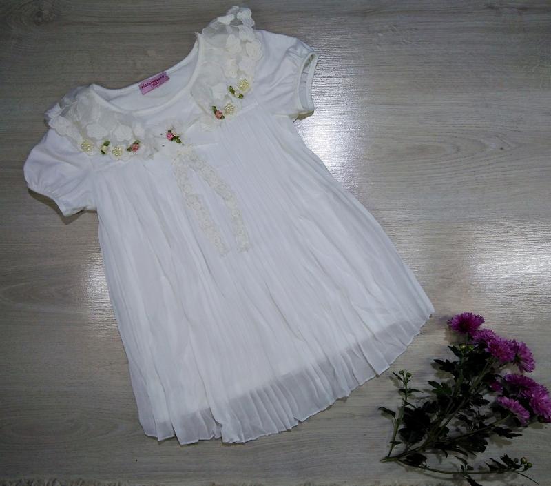 Нарядная блузка туника для девочек