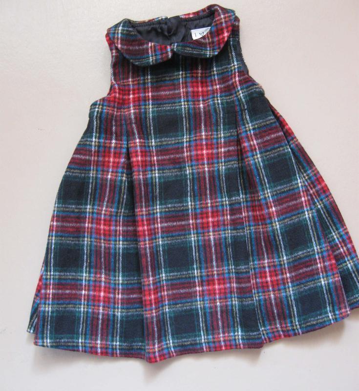 Платье сарафан next теплый из ткани на подкладке 12-18 мес