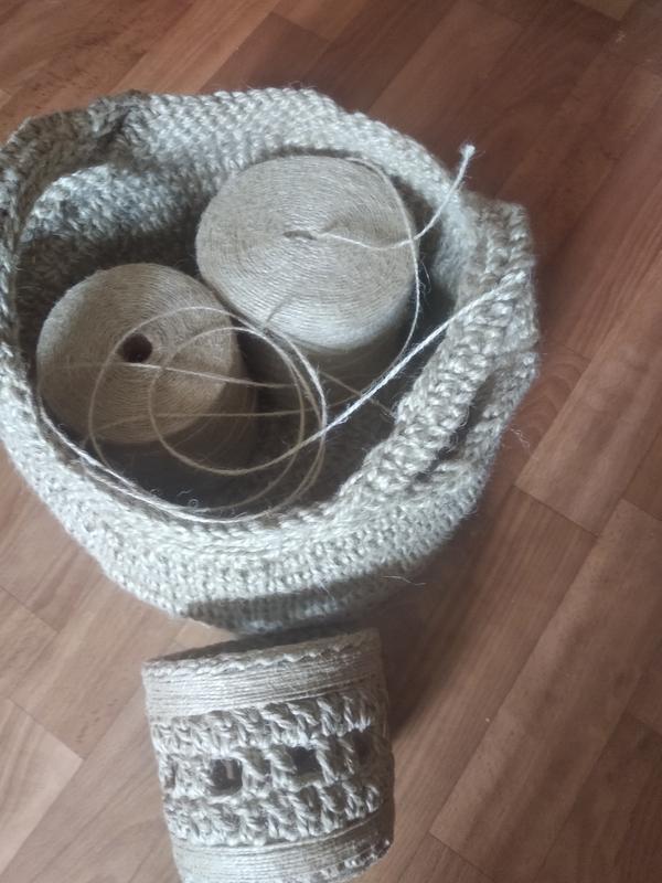 Корзины круглые из джутовой нити - Фото 11