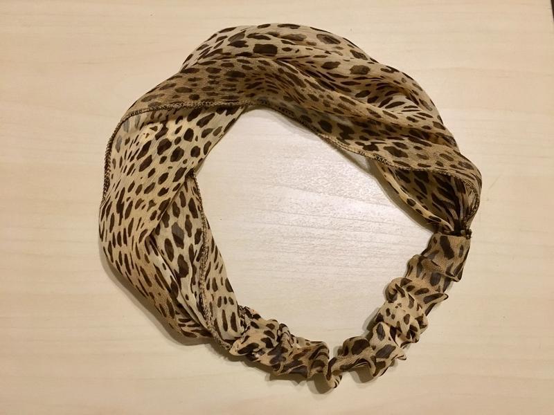 Шифоновая повязка на голову леопардового окраса - Фото 3