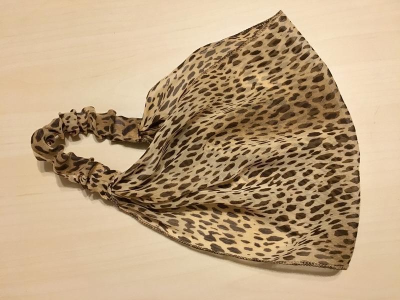 Шифоновая повязка на голову леопардового окраса - Фото 5