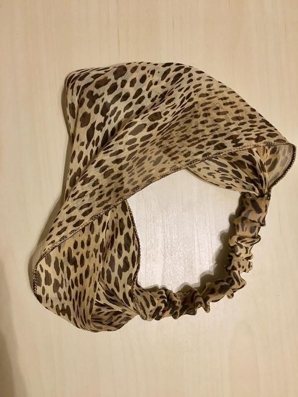 Шифоновая повязка на голову леопардового окраса - Фото 6