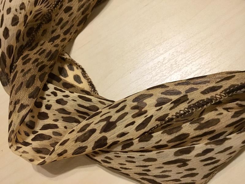 Шифоновая повязка на голову леопардового окраса - Фото 8