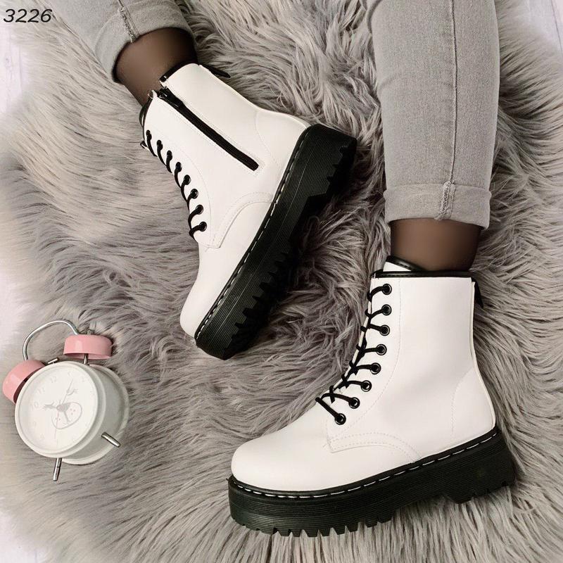 Стильные белые ботиночки новинка - Фото 2