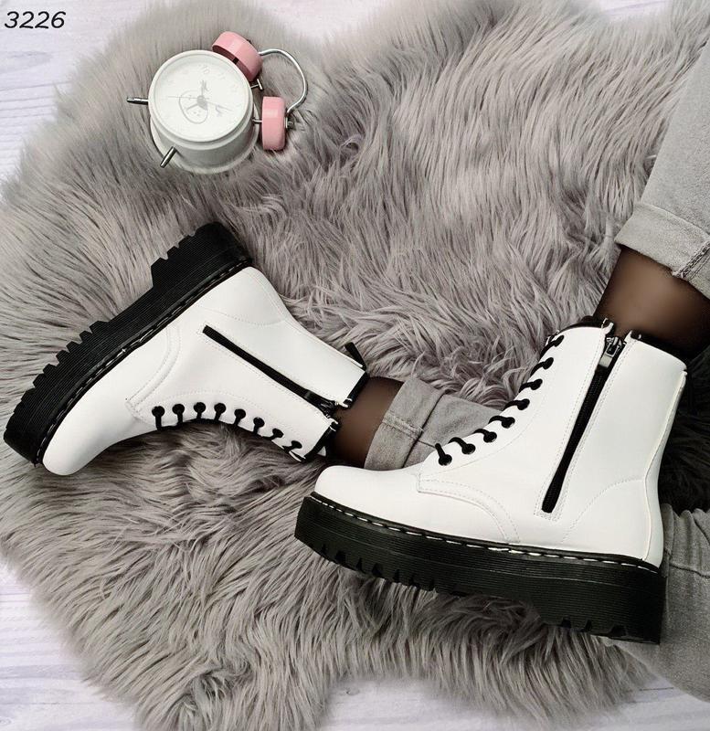 Стильные белые ботиночки новинка - Фото 4