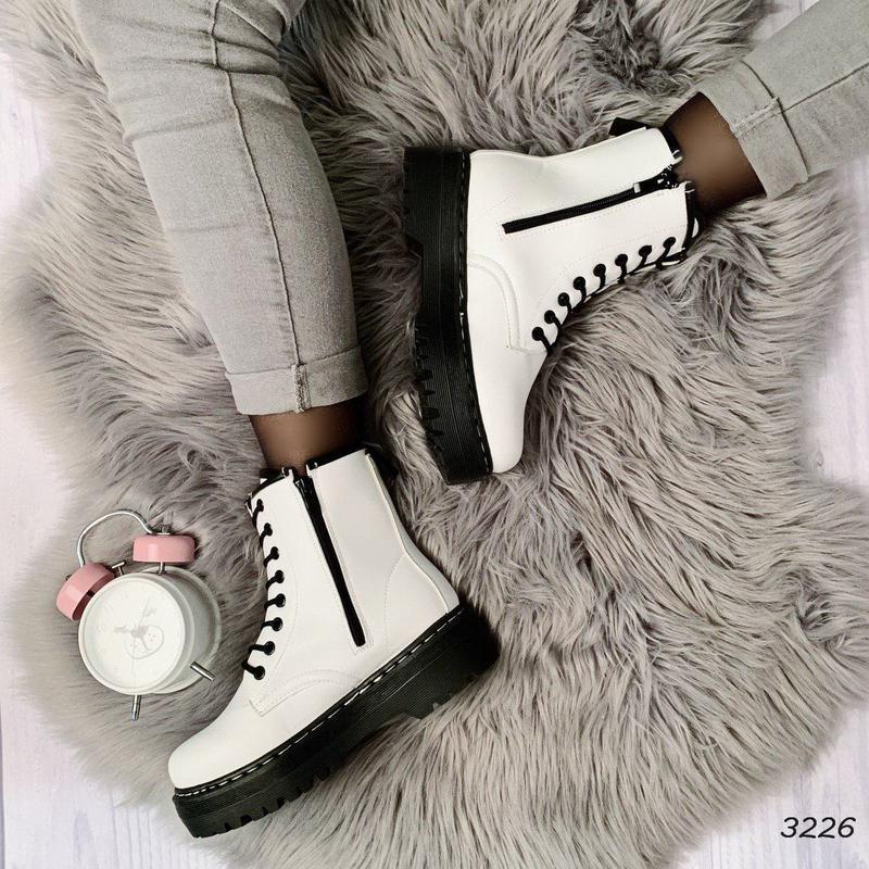 Стильные белые ботиночки новинка - Фото 5