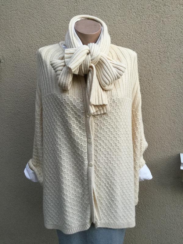 Шерсть пончо с шарфом,кардиган накидка,большой размер,casual c...