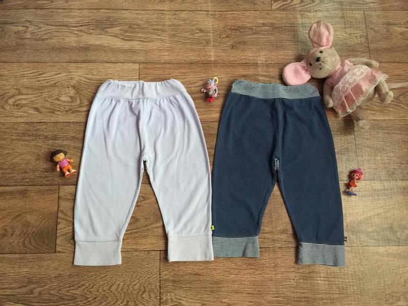 2 хлопковых штанишек под памперс на 12-18 мес !цена за 2 шт