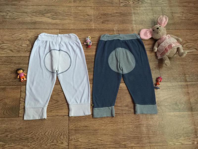 2 хлопковых штанишек под памперс на 12-18 мес !цена за 2 шт - Фото 2