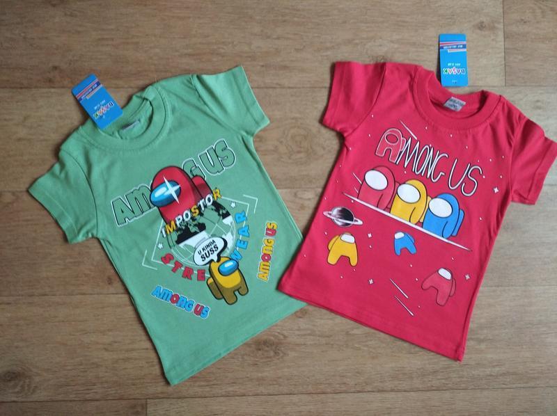 Яркие и модные футболки among us, от 4-5 до 8-9 лет, турция