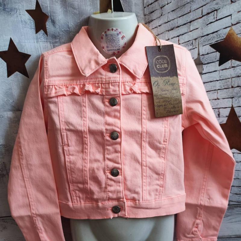 Курточка кофточка коротка ярка куртка джинсова стрейчева