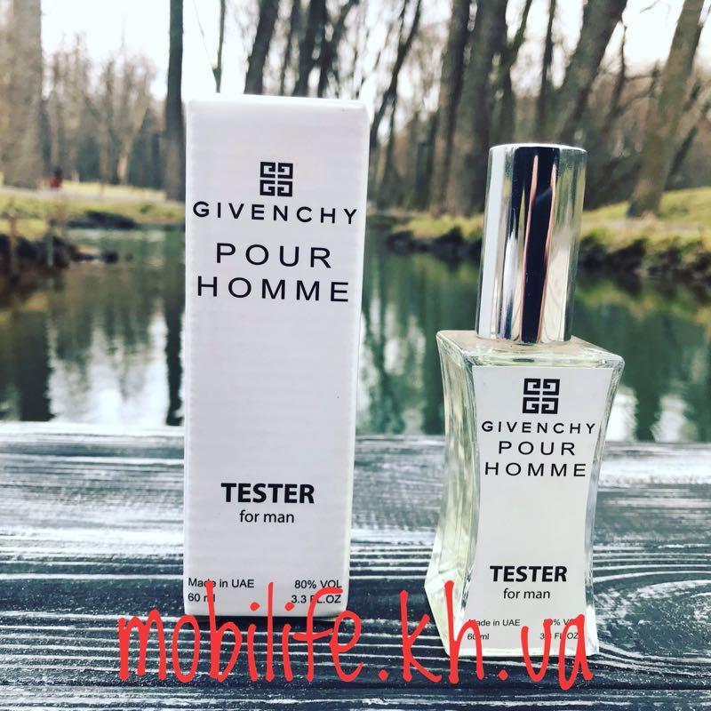 Мужская туалетная вода Тестер Givenchy pour homme 60мл/Высокое Ка