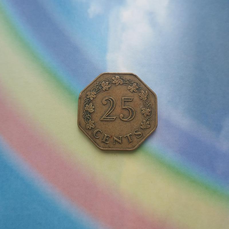 25 центов Мальта 1975 год