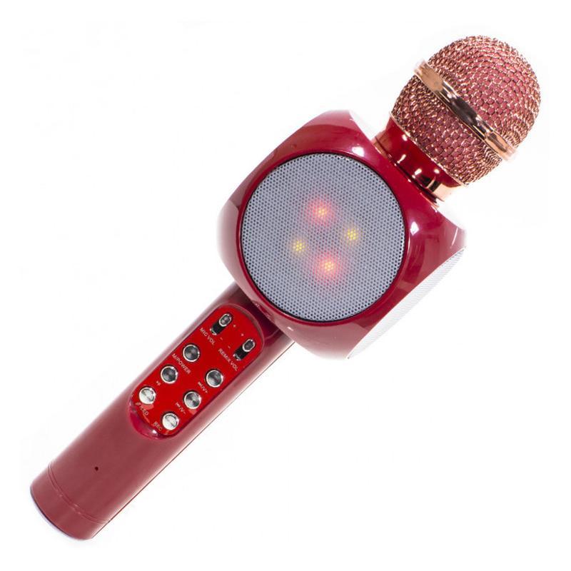 Беспроводной Микрофон Караоке WSTER WS-1816. (Золотой) (3 Цвета) - Фото 4