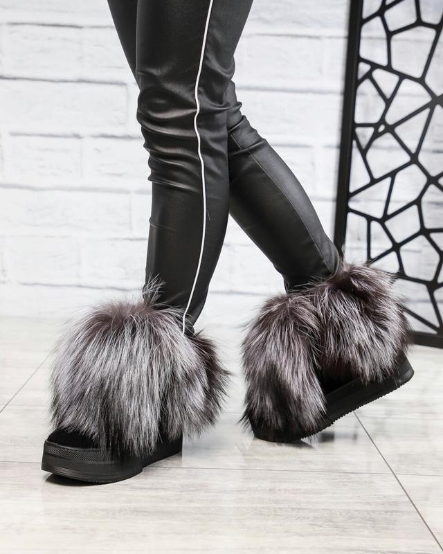 Зимние ботинки с чернобуркой - Фото 5