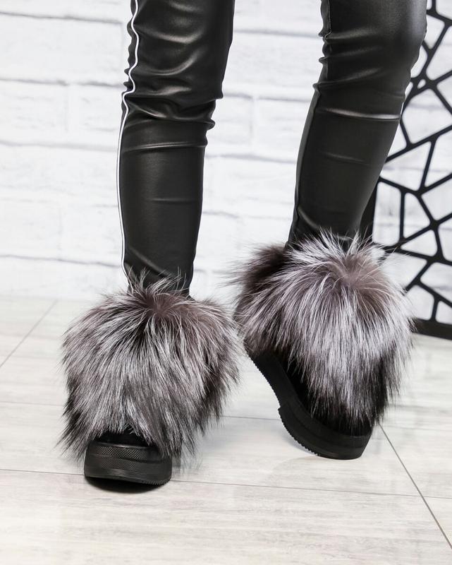 Зимние ботинки с чернобуркой - Фото 4