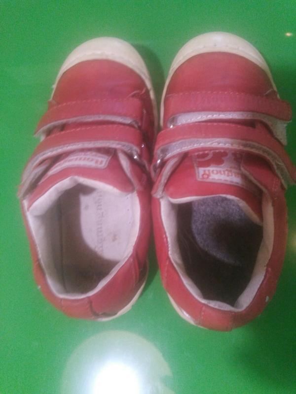 Туфельки, слипоны красные для девочки 24 размер