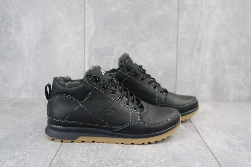 Мужские зимние кроссовки из натуральной кожи - Фото 2