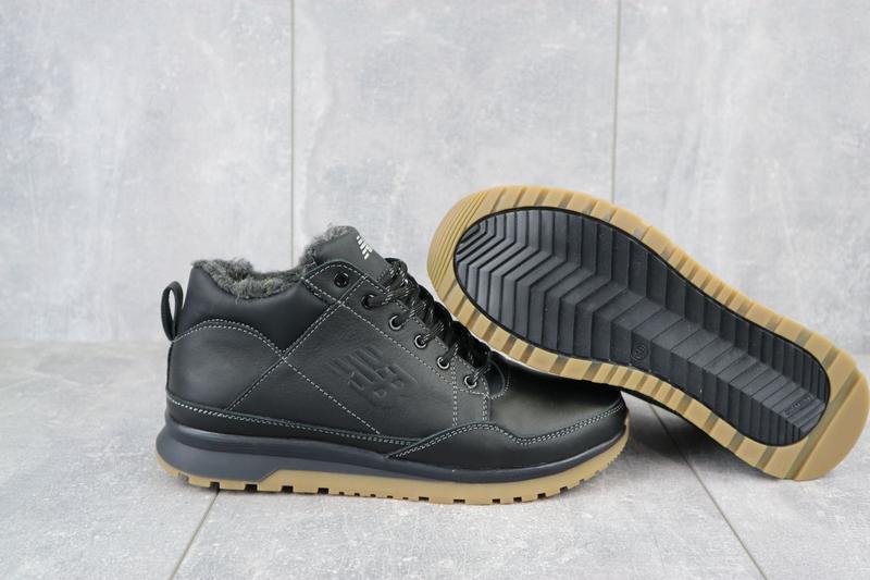 Мужские зимние кроссовки из натуральной кожи - Фото 3