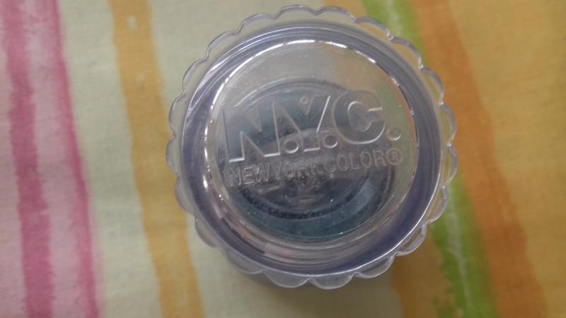 Новые нежно голубые небесные расыпчастые тени для век глаз nyc - Фото 2