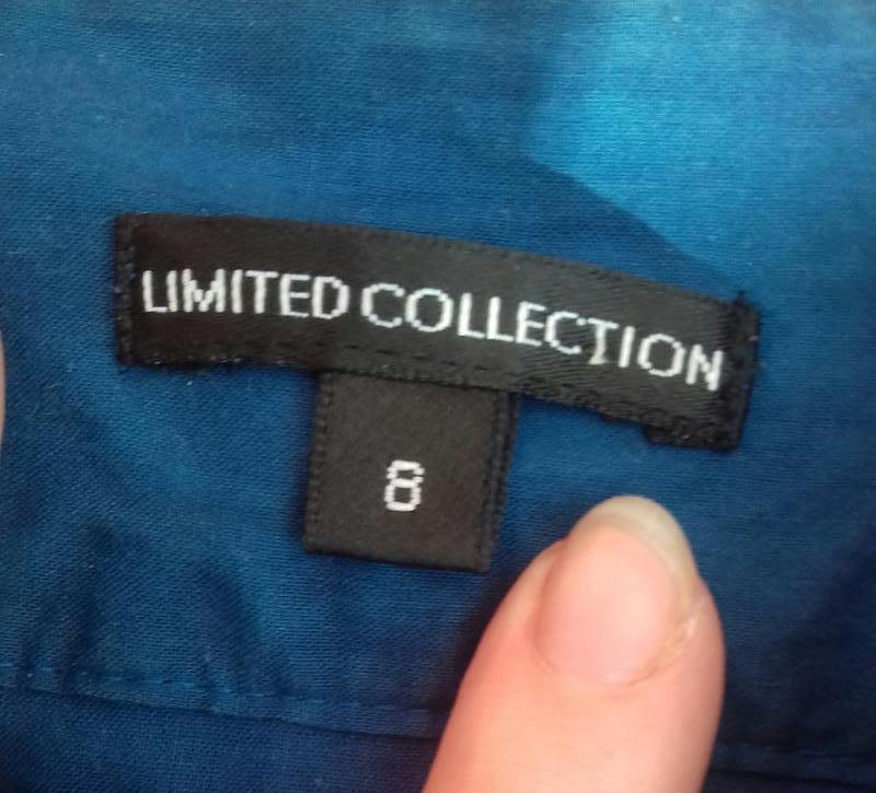 Новое синее шелковое платье шелк с подкладкой р.с s 8/36 marks... - Фото 6