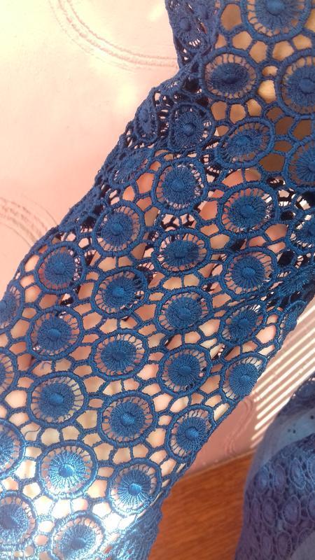 Новое синее шелковое платье шелк с подкладкой р.с s 8/36 marks... - Фото 7