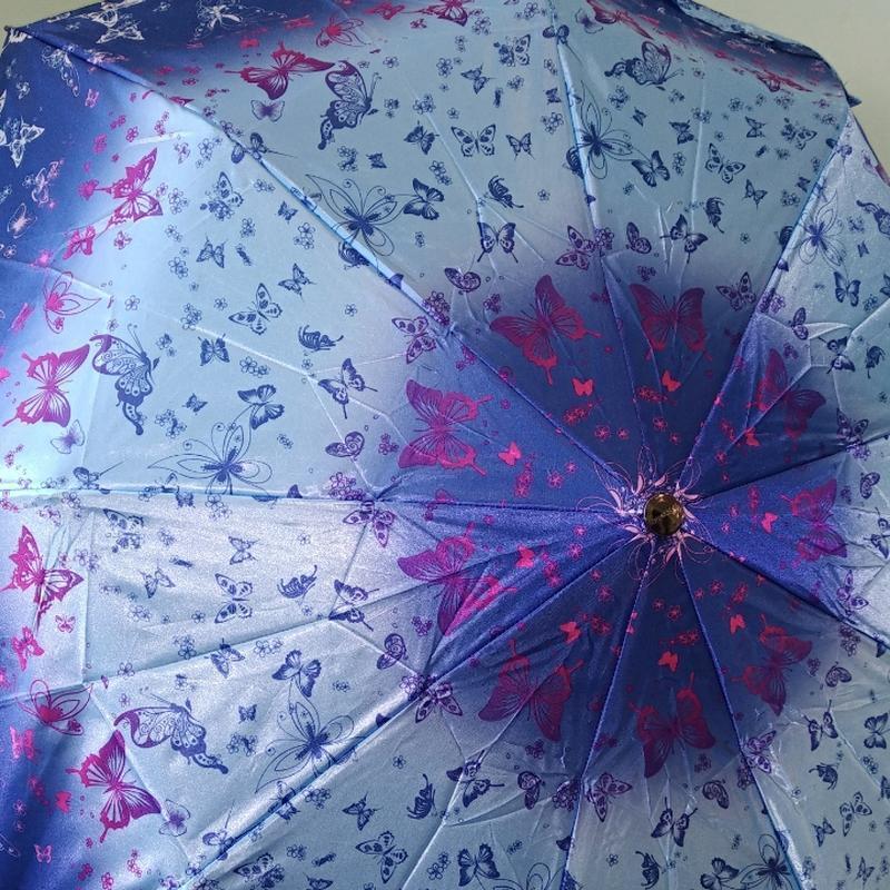 Женский складной зонт полуавтомат universal 539-1 сине-голубой...