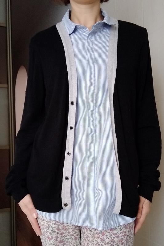 Женская рубашка обманка с кофточкой с-м