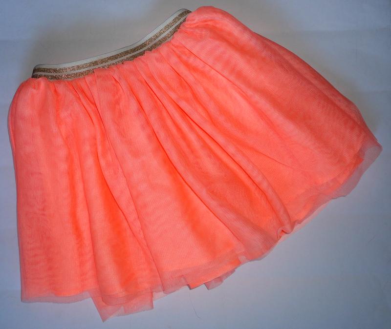 Неоновая юбка фатин h&m 3-4 г (т.46-80, дл.30)