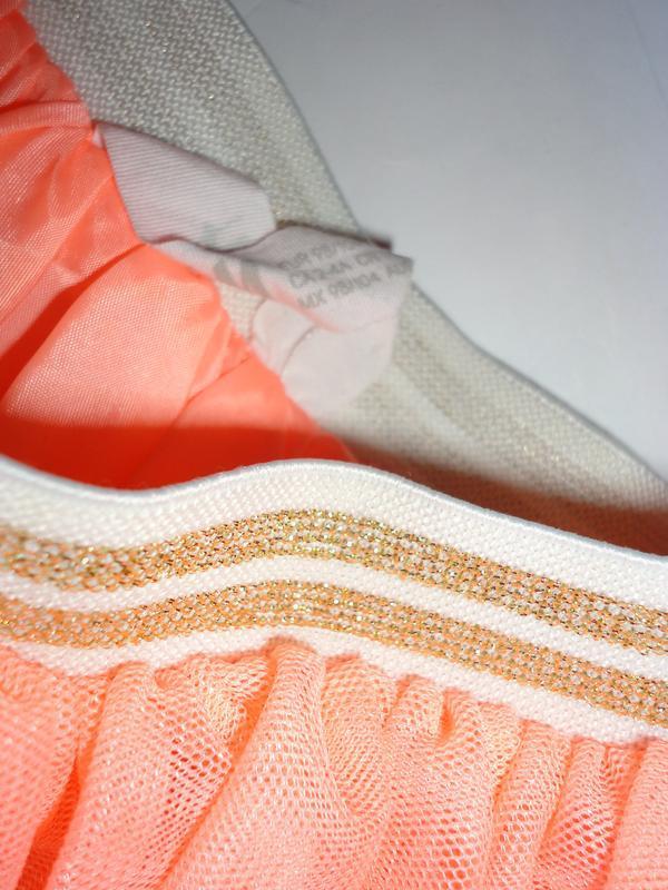 Неоновая юбка фатин h&m 3-4 г (т.46-80, дл.30) - Фото 2