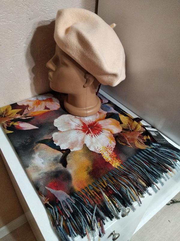 Комплект чешский фетровый берет tonak fezko и шарф палантин - Фото 2