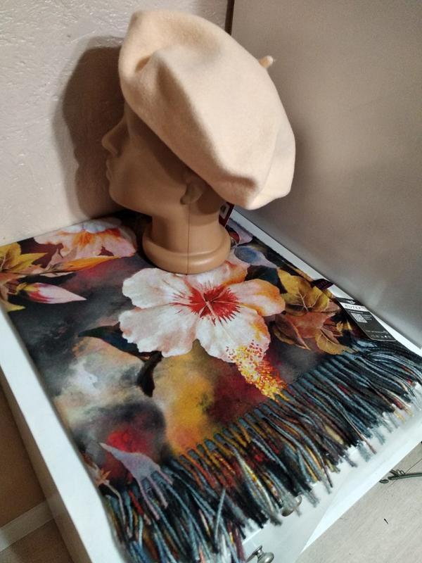 Комплект чешский фетровый берет tonak fezko и шарф палантин - Фото 4