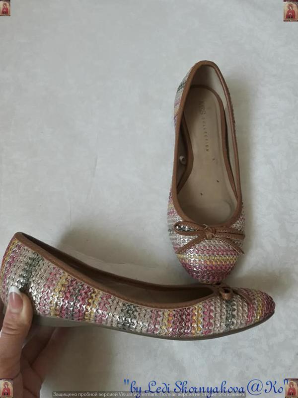 Симпатичные фирменные marks & spenser балетки/туфельки с банти...