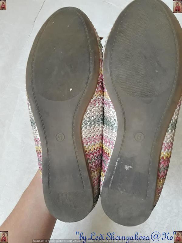 Симпатичные фирменные marks & spenser балетки/туфельки с банти... - Фото 5