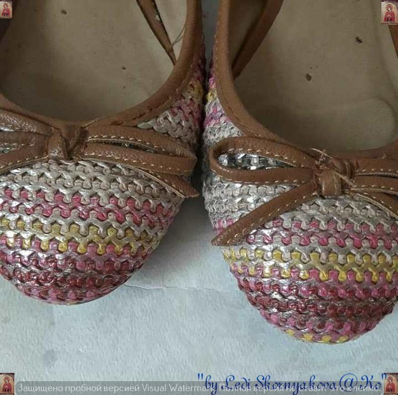 Симпатичные фирменные marks & spenser балетки/туфельки с банти... - Фото 6