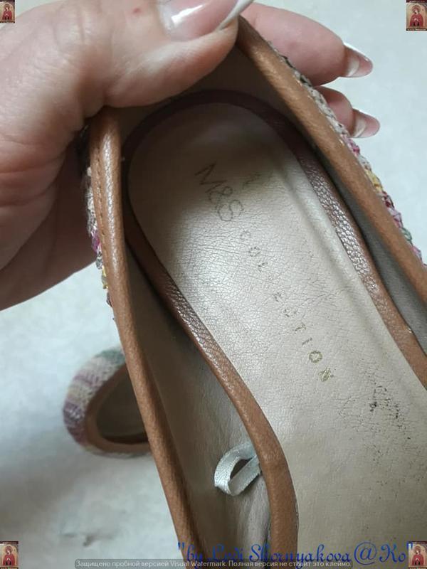Симпатичные фирменные marks & spenser балетки/туфельки с банти... - Фото 8