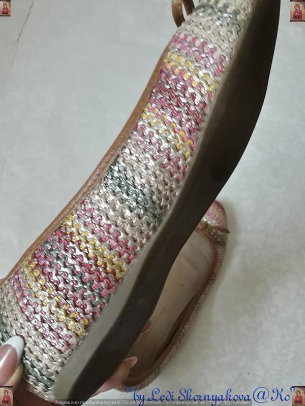 Симпатичные фирменные marks & spenser балетки/туфельки с банти... - Фото 9