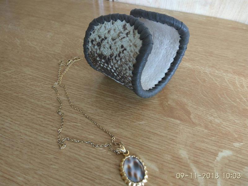 Женский браслет из качественной натуральной кожи Италия - Фото 2