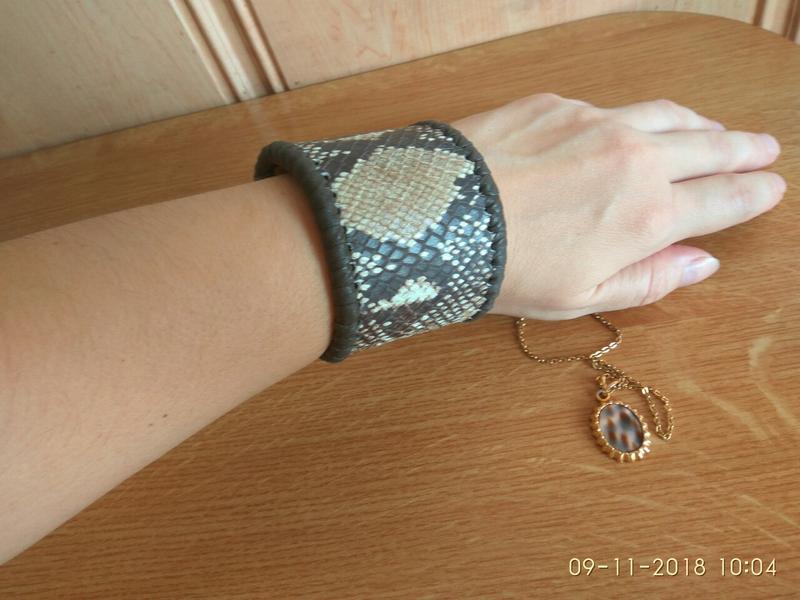 Женский браслет из качественной натуральной кожи Италия - Фото 3
