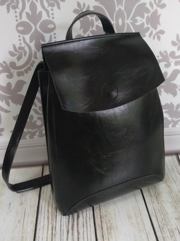 Рюкзак черный городской - Фото 2
