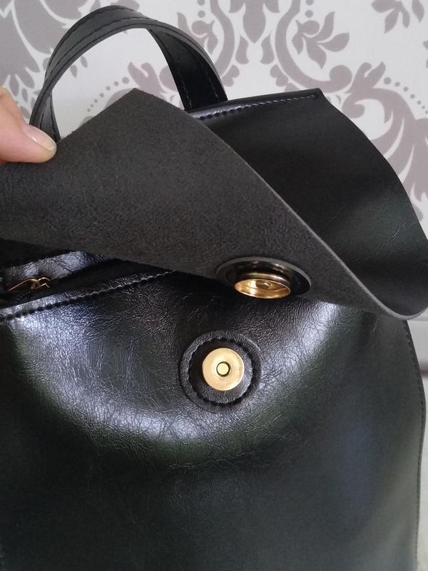 Рюкзак черный городской - Фото 6