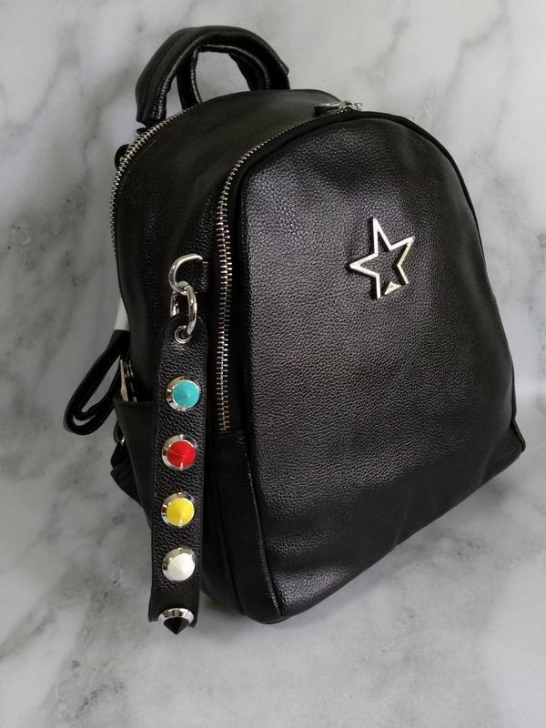 Черный рюкзак - Фото 2