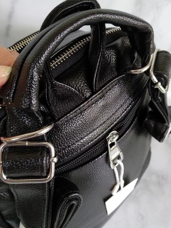 Черный рюкзак - Фото 5