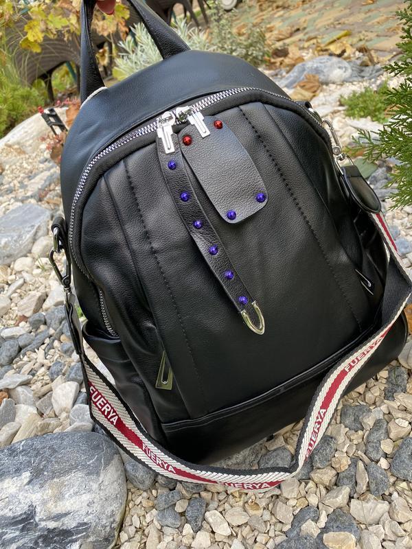 Рюкзак черный городской женский - Фото 2