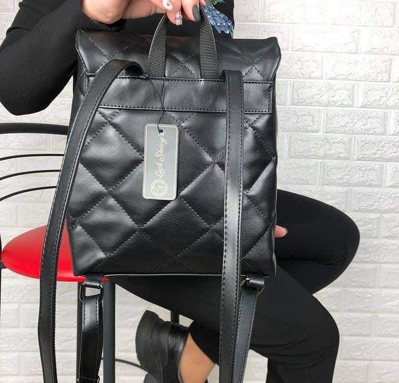 Черный городской рюкзак - Фото 3